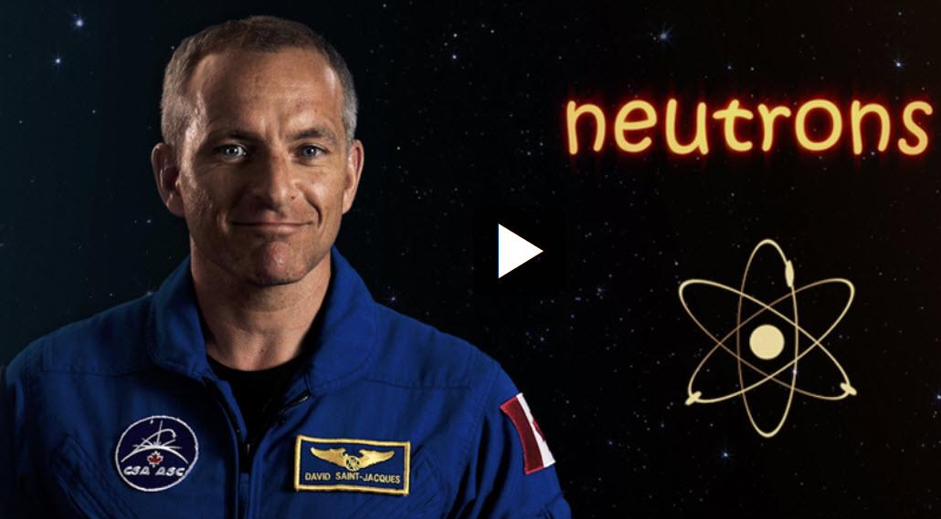 David Saint-Jacques explains radiation in a CSA video. (Credit: CSA)