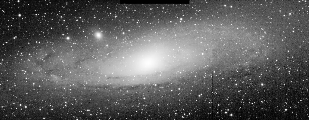 M31 Andromeda Galaxy observed by NEOSSat (Credit: Captain Kevin Bernard, Royal Canadian Air Force)
