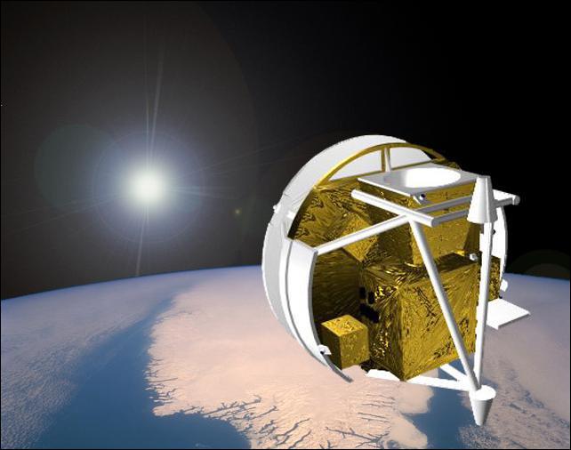 Artist's view of the SCISAT satellite (Credit: Bristol Aerospace)
